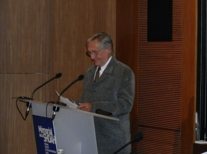 André at the Yad Vashem ceremony.